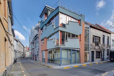 Uniek gebouw : 3 ingerichte studio's met handelsruimte in centrum