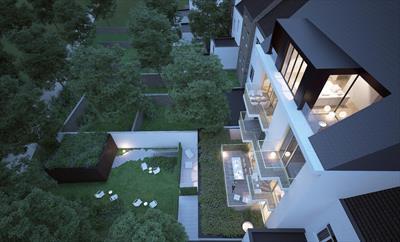 Penthouse met 2 slaapkamers op de 4e verdieping