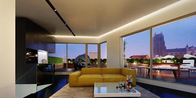 Exclusief en uniek 2 - slaapkamerappartement met eigen verdieping en ruim terras. Rust en luxe in de Gentse binnenstad