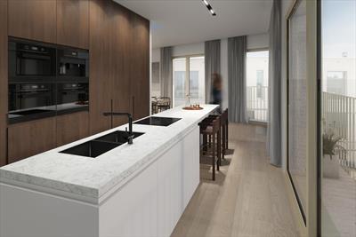 Exclusief 2 - slaapkamerappartement met 2 terrassen, ruim dakterras en 3 eigen verdiepingen. Rust en luxe in de Gentse binnenstad